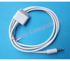 30P to 3.5mm Audio Adapter Cable Car Line-in Cord For iPad iPod iPhone 4 4S 3GS