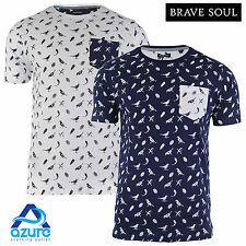 Mens T Shirt Brave Soul 'Forrest' Crew Neck Short Sleeve Printed Casual Top