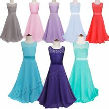 FLOWER Girls Princess Floral Dress Party Wedding Bridesmaid Pageant Formal Gown