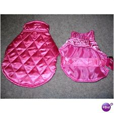 NEW DOG JACKET - XS or S -  PINK, BLUE,  RED, BLACK - FREE SHIPPING