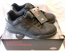 Dickies Men's Athletic Skate SLIP RESISTING  WORK SHOE  SR4215 BLACK