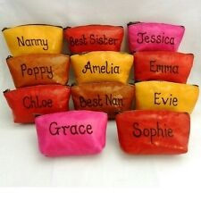 Personalised With Any Name Leather Coin Purse Quality Birthday Gift