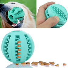 Rubber Bite Resistant Teeth Cleaning Pet Ball Dental Treat Dog Training Chewing