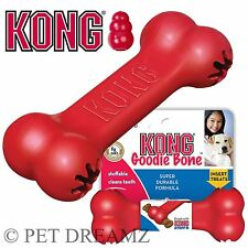 KONG CLASSIC GOODIE BONE TOUGH RUBBER CHEW TREAT DISPENSER DOG TOY – SMALL LARGE