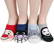 Totoro Friend Women's Loafer Socks 4pairs(4color)=1pack Made in Korea Foot Cover