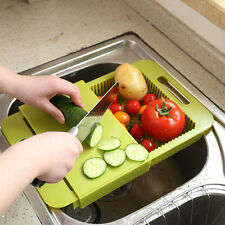 Creative Removable Drain Cutting Board Telescopic Cooking Cutting Board 4520