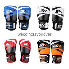 Adult PU Leather Boxing Gloves Mitts Punch Bag for Sparring MMA Fight Training