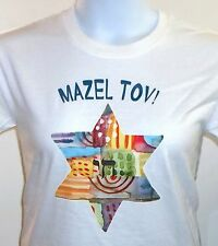 Mazel Tov!  Shirt, Chai inside Star of David, Jewish Shirt, Small - 5X