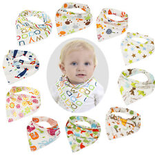 Baby Boy Girl Kids Bibs Saliva Towel Cartoon Bib Feeding Bandana Snap Closure