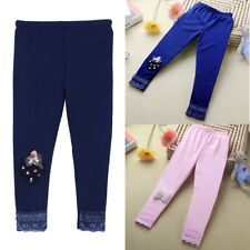 Baby Kids Girls Bowknot Leggings Ballet Dance Tight Pants Stretchy Trousers 2-7Y