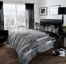 Luxury SKYLINE Duvet Quilt Cover Bedding Set with Pillowcases – All sizes