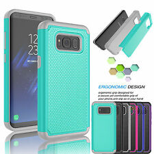 PC Shockproof Slim Hybrid Rubber Hard Cover Case For Samsung Galaxy S8 / S8 Plus
