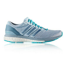 Adidas Adizero Boston 6 Womens Grey Blue Running Sports Shoes Trainers Pumps
