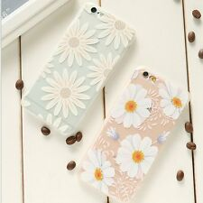 Girly Slim Soft TPU Flower Silicone Shockproof Cover Case For iPhone 6 6S 4.7''