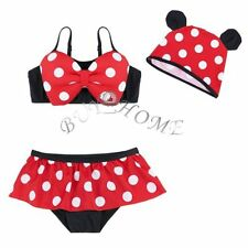 Girls Cartoon Swimwear Kids Swimsuit Swimming Bathing Suit Tankini Bikini 2-7T