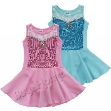 Girls Gymnastics Dance Skating Dress Leotard Tutu Skirt Children Ballet Costume