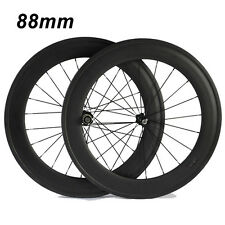 T700 88mm Clincher Tubular 3K Carbon Wheels Road Bike Bicycle Carbon Wheelset