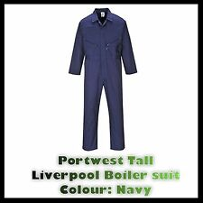 Portwest Mens Boilersuit Overall Coverall Workwear Mechanics Student Tall Uk New