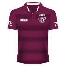 Manly Warringah Sea Eagles 2017 NRL Mens Sublimated Media Polo Shirt BNWT Rugby