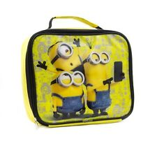 CHILDRENS BOYS & GIRLS DESPICABLE ME ZIPPED SCHOOL LUNCH BAG MINIONs 3205225HV