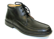 MENS SEBAGO LACE UP SMART WORK / CASUAL BLACK LEATHER ANKLE BOOTS B26672