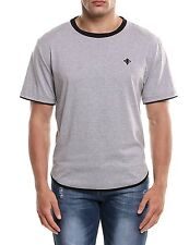 Coofandy Men Casual Short Sleeve O Neck Solid Contrast Color Pullover T-Shirt