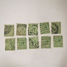 Lot of 10 ~ Great Britain Stamps - #187 A 81 1922 Used