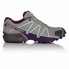 Salomon Speedcross 4 Womens Grey Water Resistant Trail Running Shoes Trainers