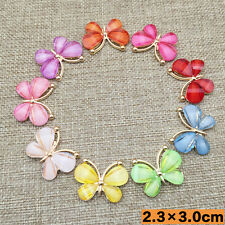 NEW DIY 5 PCS Colorful Butterfly Flatback Scrapbooking for Phone/wedding, Crafts