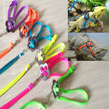Reptile Lizard Adjustable Strap Harness Safety Outdoor Walking Leash Delightful
