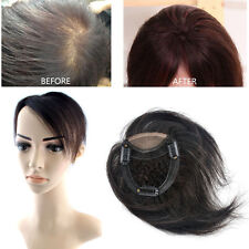 6'' Mesh Breathable Hair Top Piece Toupee Real Human Clip in Hair extensions