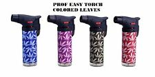 CHEAPEST PROF NEW LEAVES Heavy Duty Colored Blue Flame Jet Lighter Gas Refilable