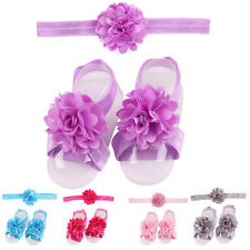 LACE FLOWER HAIRBAND SHOES BABY GIRLS KIDS HEADBAND HEADWEAR HAIR BAND WARM