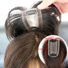 2.5''*4.52'' Human HairTop Piece Toupee Clip in Hair extensions For Women Man