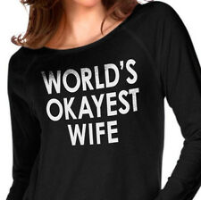 World's Okayest Wife Women's T-Shirt Mothers Day Shirt Cool Shirts