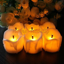 12 24 LED Flickering Tealights Battery Included Electronic Candle Mood Safe Lamp