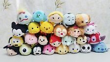 130 Disney TSUM Eeyore Mickey Winnie Stitch Mini Plush Soft Toys Doll With Chain