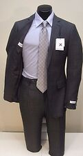 Calvin Klein Was $500 NOW $199.99 Extreme Slim Fit Charcoal Windowpane 2B Suit