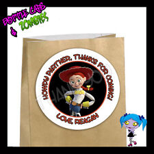 Jessie Toy Story Birthday Party Favor Goody Bag STICKERS - Personalized Loot Bag