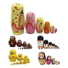 5/6/7/10 Dolls Set Matryoshka Russian Nesting Wooden Doll Toy Hand Painted Craft