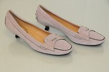 NEW TOD'S Moccasins Loafers Driving Low Heels Pink Lilac Suede TODS Shoes 9.5