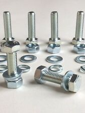 M6 8.8 High Tensile Full Thread Bolts,Nuts, Washers Zinc Plated -Pack 6,12 or 24