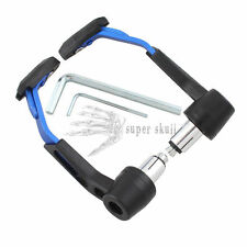 """Motorcycle Handlebar Hand grip Front Brake Clutch Lever Protect Guard Blue 7/8"""""""