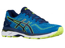 NEW MENS ASICS GEL-KAYANO 23 RUNNING SHOES TRAINERS THUNDER BLUE / SAFETY YELLOW
