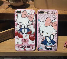 Hello Kitty Cartoon Hard Case Shell Cover Soft Edge For iPhone 6/6S Plus 7 Plus