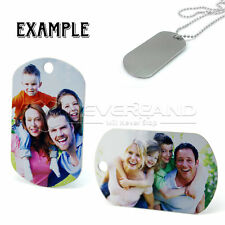 Stainless Steel Custom Photo Dog Pet Tag Engraved Jewelry Necklace Pendant Gift
