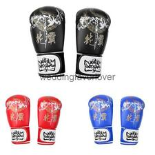 Adult Kids Boxing Training Gloves Mitts Punching Bag MMA Muay Thai Sparring