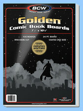 BCW: Comic Book Acid-Free Backing Boards: GOLDEN Size: 200ct  *Ships FREE in USA