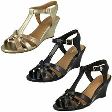 Ladies Van Dal T-Bar Wedge Sandals 'Temple'