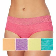 The Collection Pack Of Five Assorted Marl And Plain Lace Trim Shorts